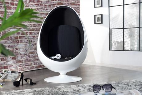Kreslo Space Egg black,
