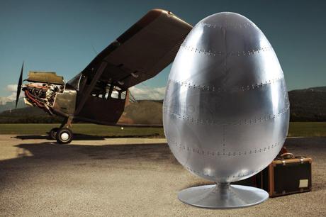 Kreslo Space Egg silver,