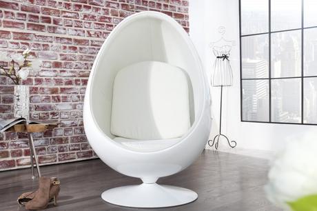 Kreslo Space Egg white,