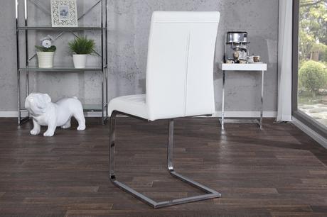 Luxusná biela jedálenská stolička Proella,