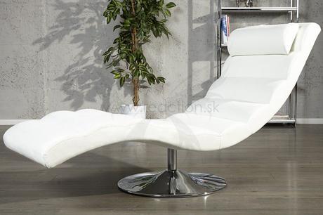 Luxusné kreslo Relax White,