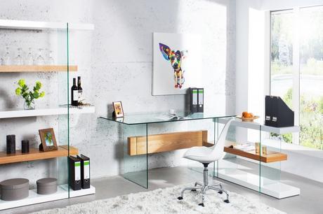 Písací stôl Onyx Glass,