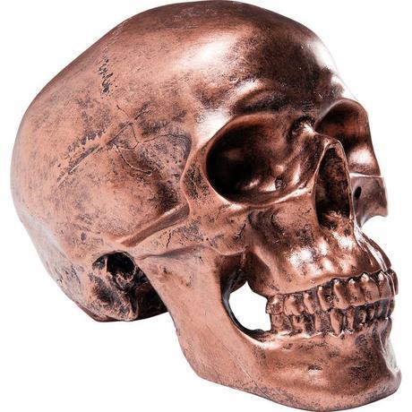 Pokladnička Skull Copper Antique,