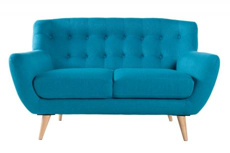 Sedačka 2 Sofa Retro Blue,
