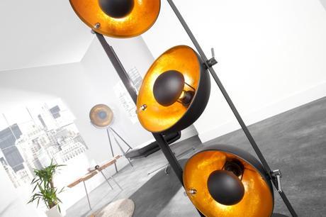 Stojanová lampa Studio gold,