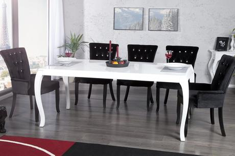 Stôl Baroco White,