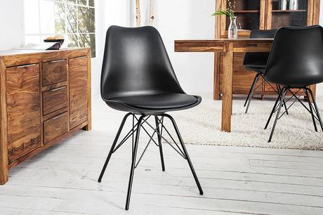 Stolička Scener Chair Retro Black,