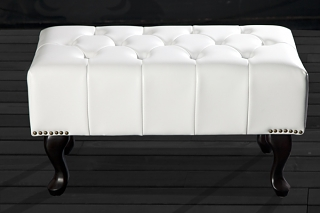 Taburet Chesterfield Stool White,