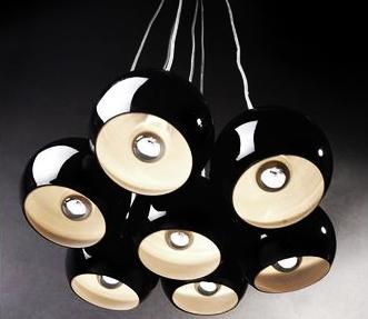 Závesná lampa Black Pearls,