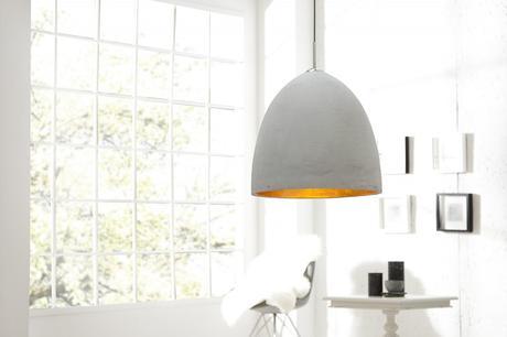 Závesná lampa Cement Gold 40,