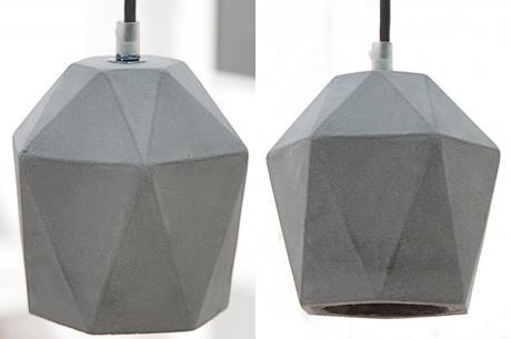 Závesná lampa Cement Prismac Grey,