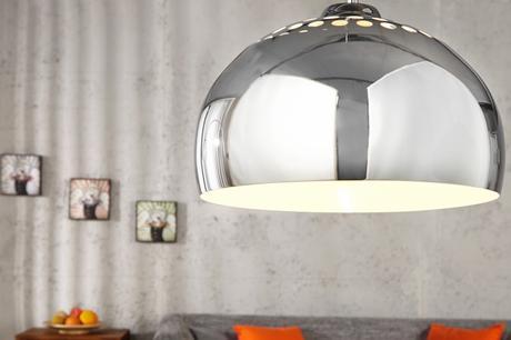 Závesná lampa Chrome Ball,