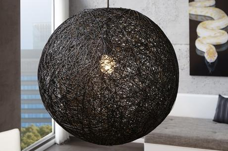 Závesná lampa Cocoon Big Black,