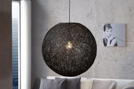 Závesná lampa Cocoon M Black,