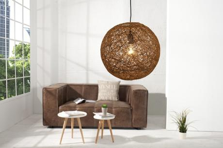 Závesná lampa Cocoon natur brown 35,