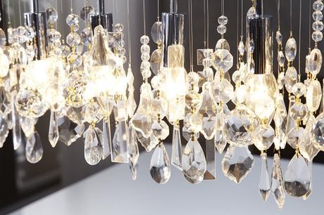 Závesná lampa Flaming Diamonds,