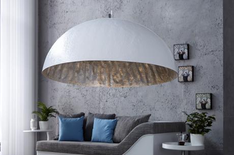 Závesná lampa Glow White Silver 50,