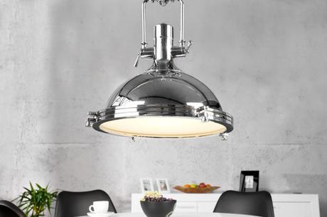 Závesná lampa Industrial 45 Chrome,