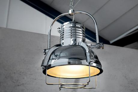 Závesná lampa Industrial II Chrome,