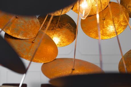 Závesná lampa Infor Black,