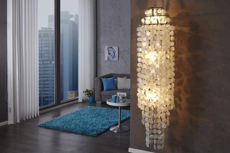 Závesná lampa Longshell Rings,