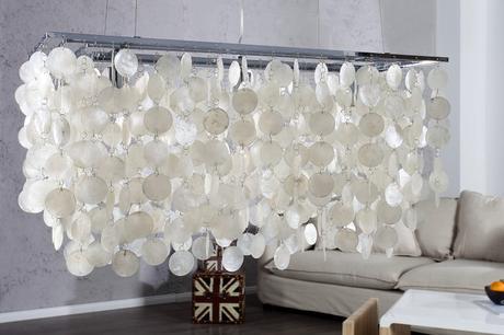 Závesná lampa Shell Design,