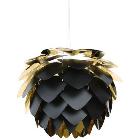 Závesná lampa Silvia black and gold,