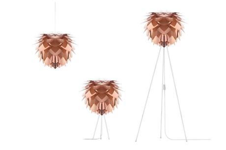 Závesná lampa Silvia Copper,