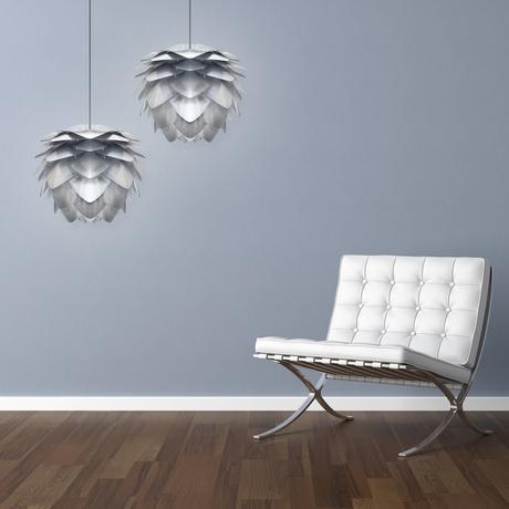 Závesná lampa Silvia Steel,