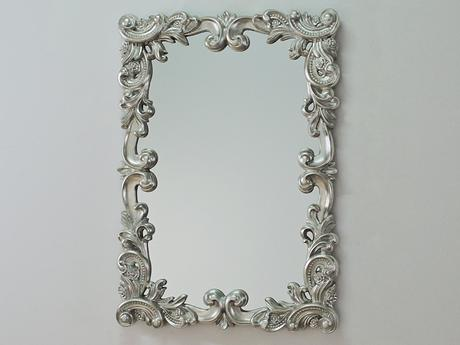 Zrkadlo Baroque Booklet Silver,