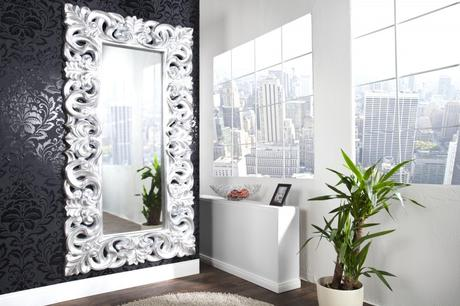 Zrkadlo Baroque L silver,