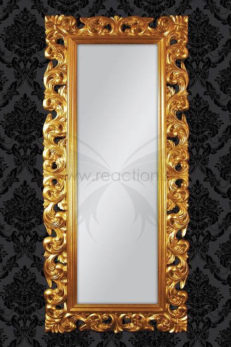 Zrkadlo Baroque Lounge gold/silver/white,