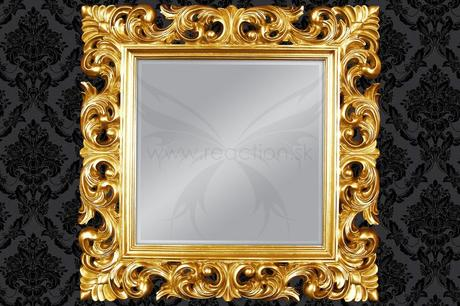 Zrkadlo Baroque Square gold,