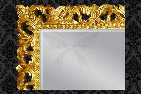 Zrkadlo Glamour Gold,