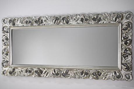 Zrkadlo Middle Long Silver,