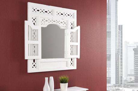 Zrkadlo Secret white,