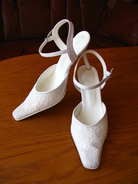f68c708feb Biele svadobné topánky
