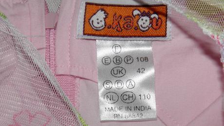 848o dievčenské šaty, 1x použité, 110