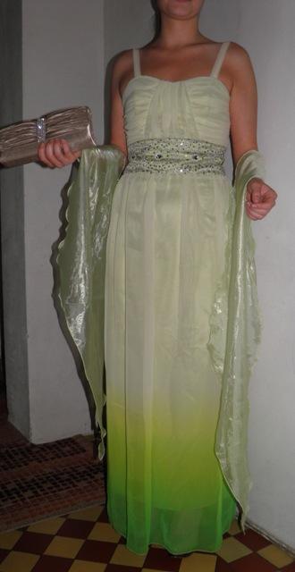 Exkluzivne šaty+štola+topanky+kabelka , 38
