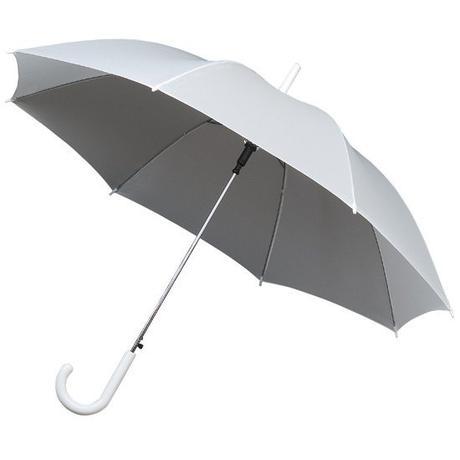 Bílý holový deštník,