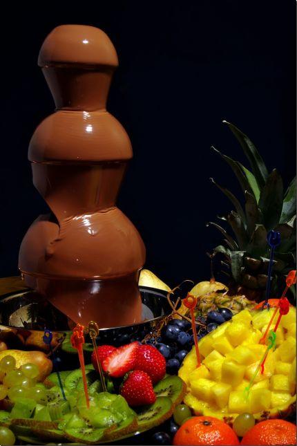 Čokoládová fontána,
