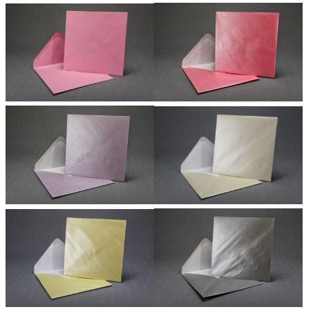 Čtvercové obálky - barevné nebo perleťové,
