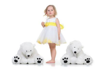 Družičkovské šaty pro malé princezny, 104