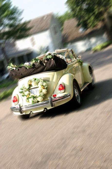 Kompletní květinová výzdoba na váš svatební vůz,