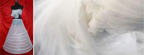 Krinolína pro nevěsty a družičky,
