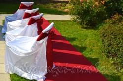 Půjčení svatebního koberce,