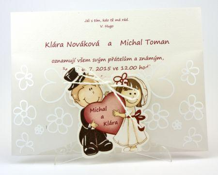 Romantické svatební oznámení ,