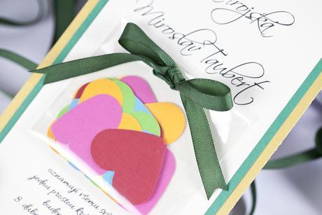 Svatební oznámení Srdcové konfety,