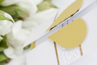 Svatební oznámení Zlaté srdce,