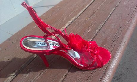 Cervene sandalky, 38